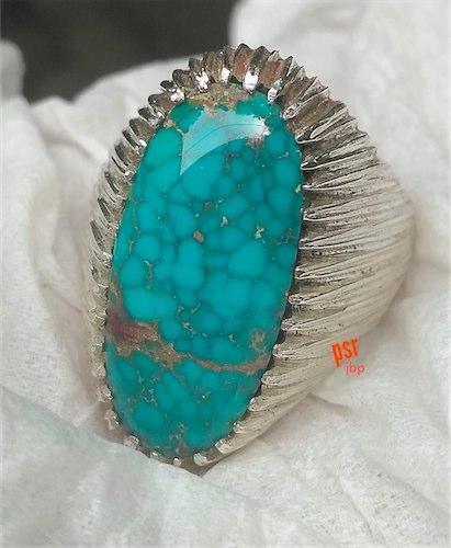 Aneka Cincin Batu Pirus Persia Urat Jala Asli Tambang Neyshabour Iran